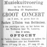 advertentie 1e concert 13 sept 1886 harmonie l'union heythuysen