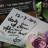 jan rot feliciteert 40-jarig bruidspaar bij buitengoed de gaard