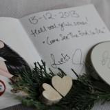nearly christmas wedding met felicitaties en cd van elske dewall voor gasten buitengoed de gaard