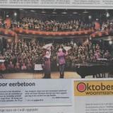 suus voorpagina dagblad de limburger 10-10-2013 premiere suus zingt toon suzan seegers en marc-peter van dijk in  weert
